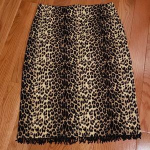 Allison Taylor Vintage animal print pencil skirt